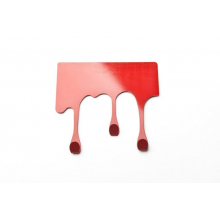 Crochet à suspendre tâche rouge design