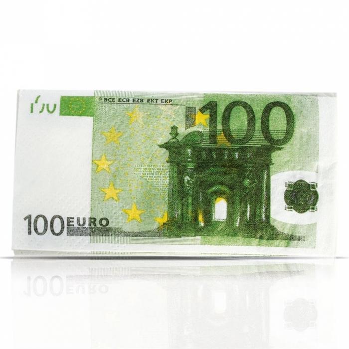 Paquet de 10 mouchoirs billets de 100 euros