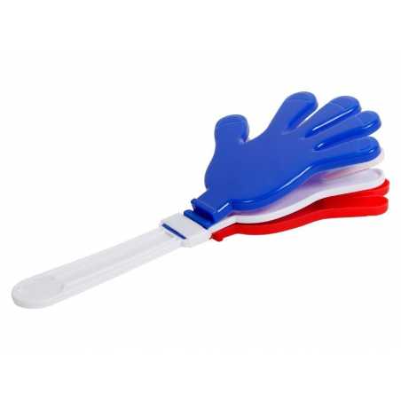 Main Clap Clap bleu blanc rouge pour supporter l'équipe de France