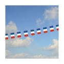 Guirlande drapeaux français bleu blanc rouge