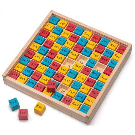 Plateau Tables de Multiplication en bois