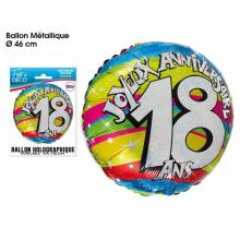 Ballon JOYEUX ANNIVERSAIRE 18 ANS
