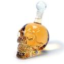 Bouteille design en cristal TETE DE MORT