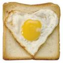 Mini poêle en forme de coeur pour oeufs, crêpes, galettes...