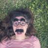 Lot de 12 fausses moustaches adhésives