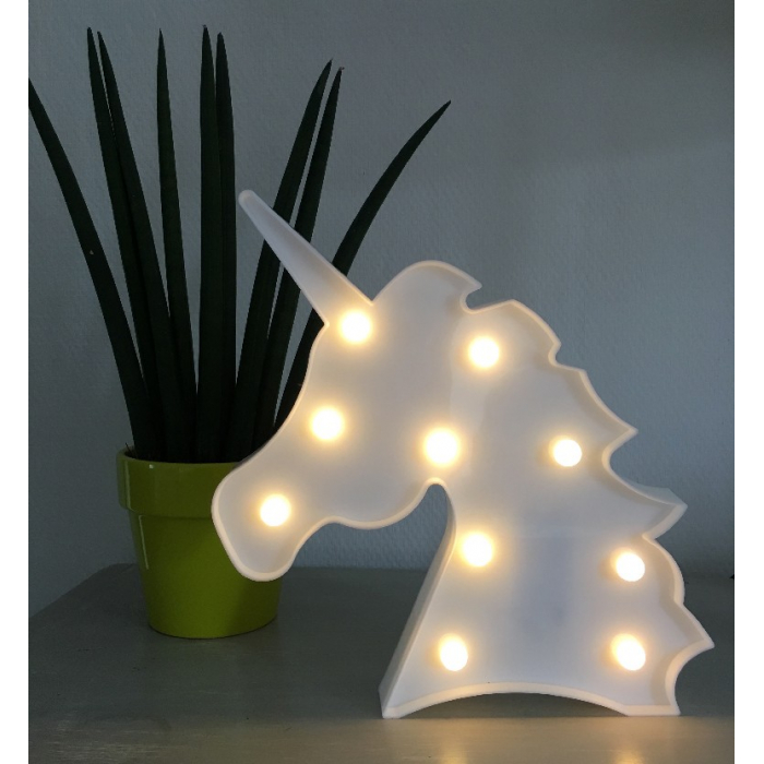 Tête de licorne lumineuse