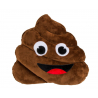 Coussin Emoticon crotte marron 30cm