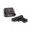 Réveil cible avec pistolet - Noir