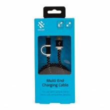 Câble USB 2 en 1 iPhone Samsung