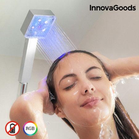 Eco-douche LED avec Capteur de Température Square InnovaGoods