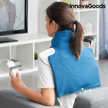 Coussin Électrique pour le Cou et les Épaules InnovaGoods 40 x 40 cm 60W Bleu