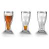 Verre bouteille de bière à l'envers