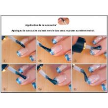 Kit décoration Nail Art ongles style Konad, tampon + raclette + plaque de motifs