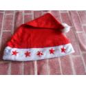 Bonnet de père noël lumineux avec motifs étoiles