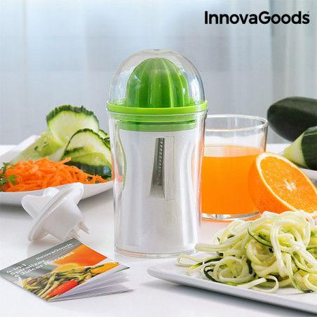 Coupe-Légumes et Presse-Agrumes 4 en 1 avec Livre de Recette InnovaGoods