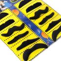 Lot de 12 fausses moustaches adhésives en détail