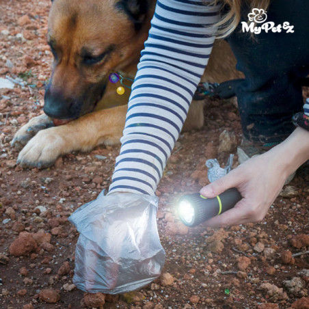 Lampe Torche avec Porte-sac Ramasse Crottes MyPet Poop Lantern